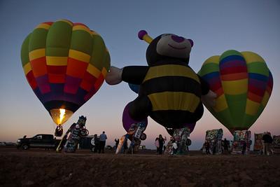 Hot Air Balloons at Cadillac Ranch Amarillo TX_2995