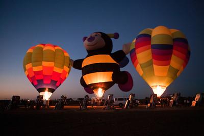 Hot Air Balloon Glow at Cadillac Ranch Amarillo TX_3012