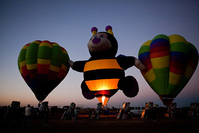 Hot Air Balloons at Cadillac Ranch Amarillo TX_3002