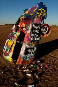 Spray Cans Litter Cadillac Ranch Amarillo TX_2930
