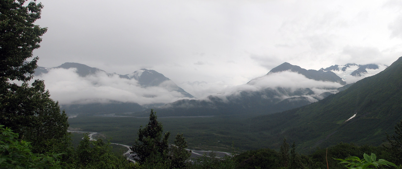 """I took a day hike up the Harding Icefield Trail.  Here we're looking over valley, the glacier is out of sight off to the right.<br /> <br /> More about the trail: <a href=""""http://www.nps.gov/kefj/planyourvisit/harding_icefield_trail.htm"""">http://www.nps.gov/kefj/planyourvisit/harding_icefield_trail.htm</a>"""