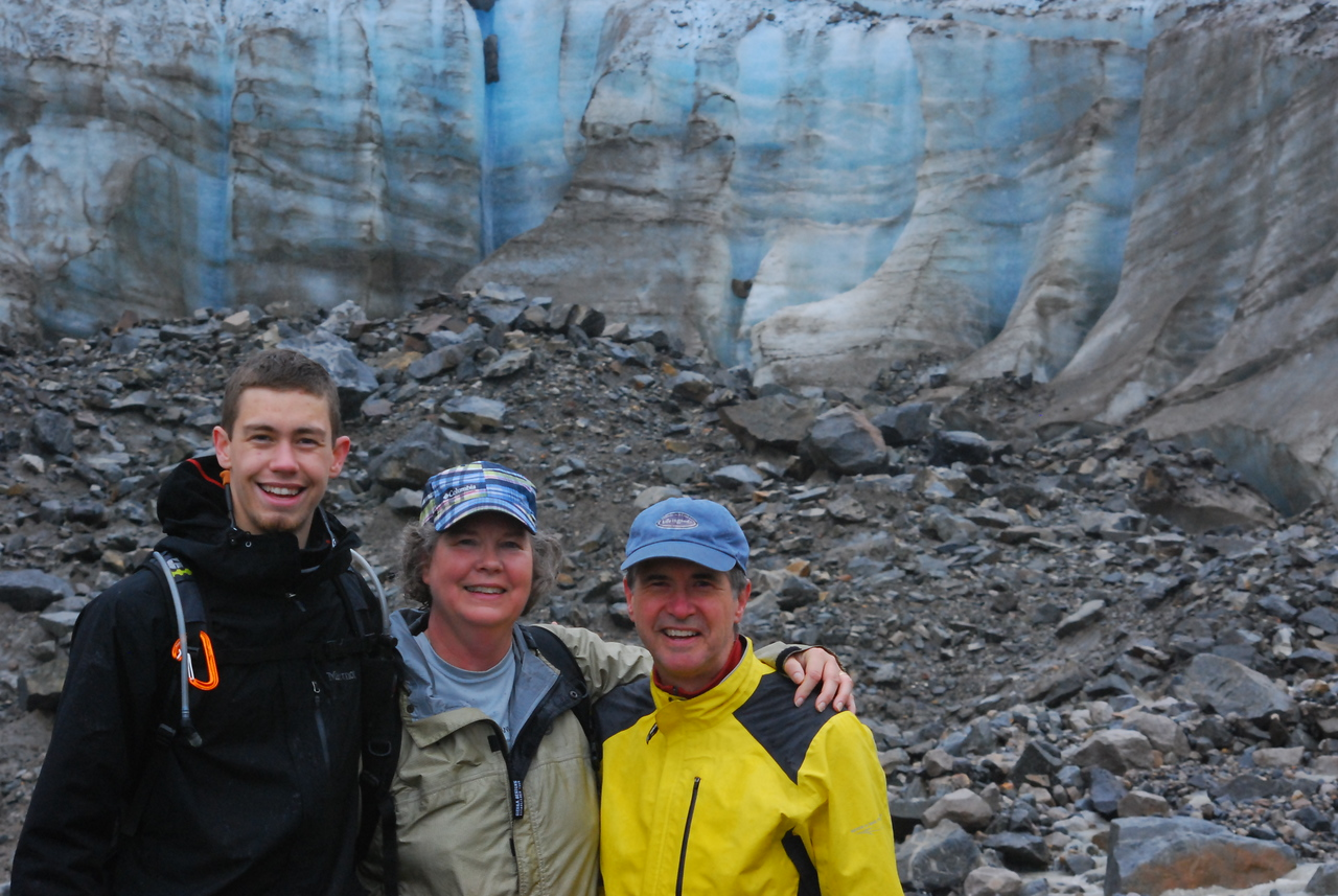 Family shot at the base of Laughton Glacier