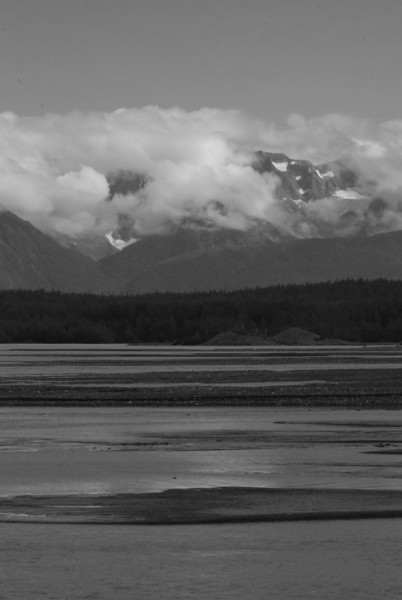 Looking across the Chilkat at mountains to the east.