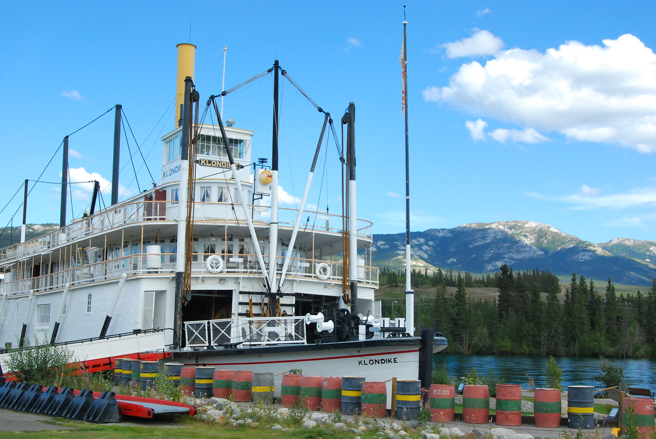 The Klondike - a paddlewheeler that is on display in Whitehorse