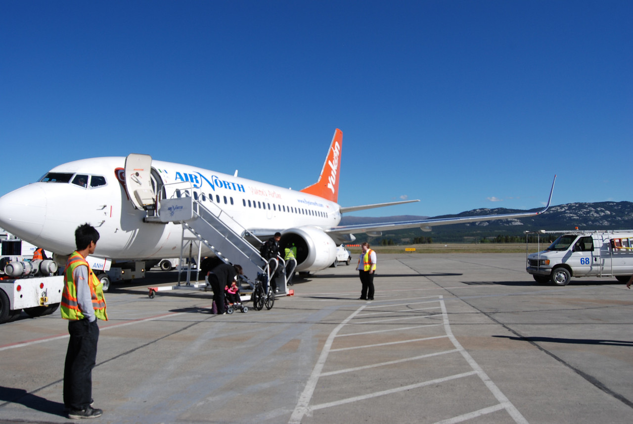 Here we are landing in Whitehorse on a gorgeous day.