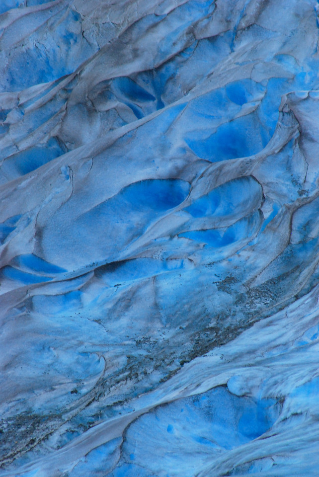 Gorgeous blue ice in the Davidson Glacier.