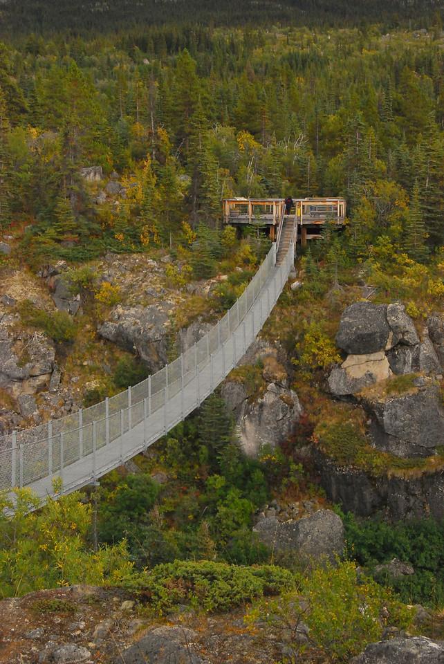 Yukon River suspension bridge