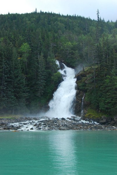 A waterfall along Lynn Canal
