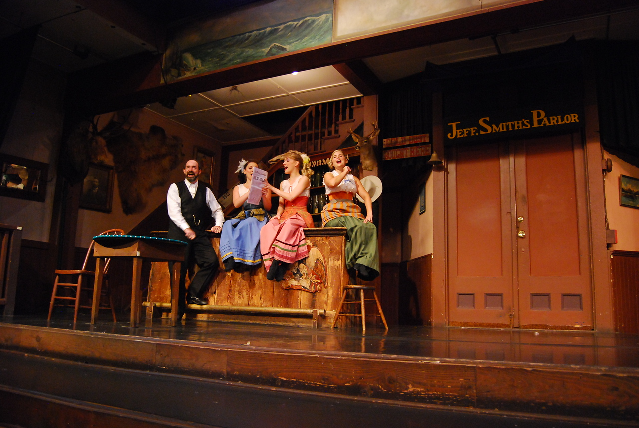 """Days of 98"" show in Skagway. THe show has been running continuously for 90 years. Awesome performance on the gold rush days and local character Soapy Smith."