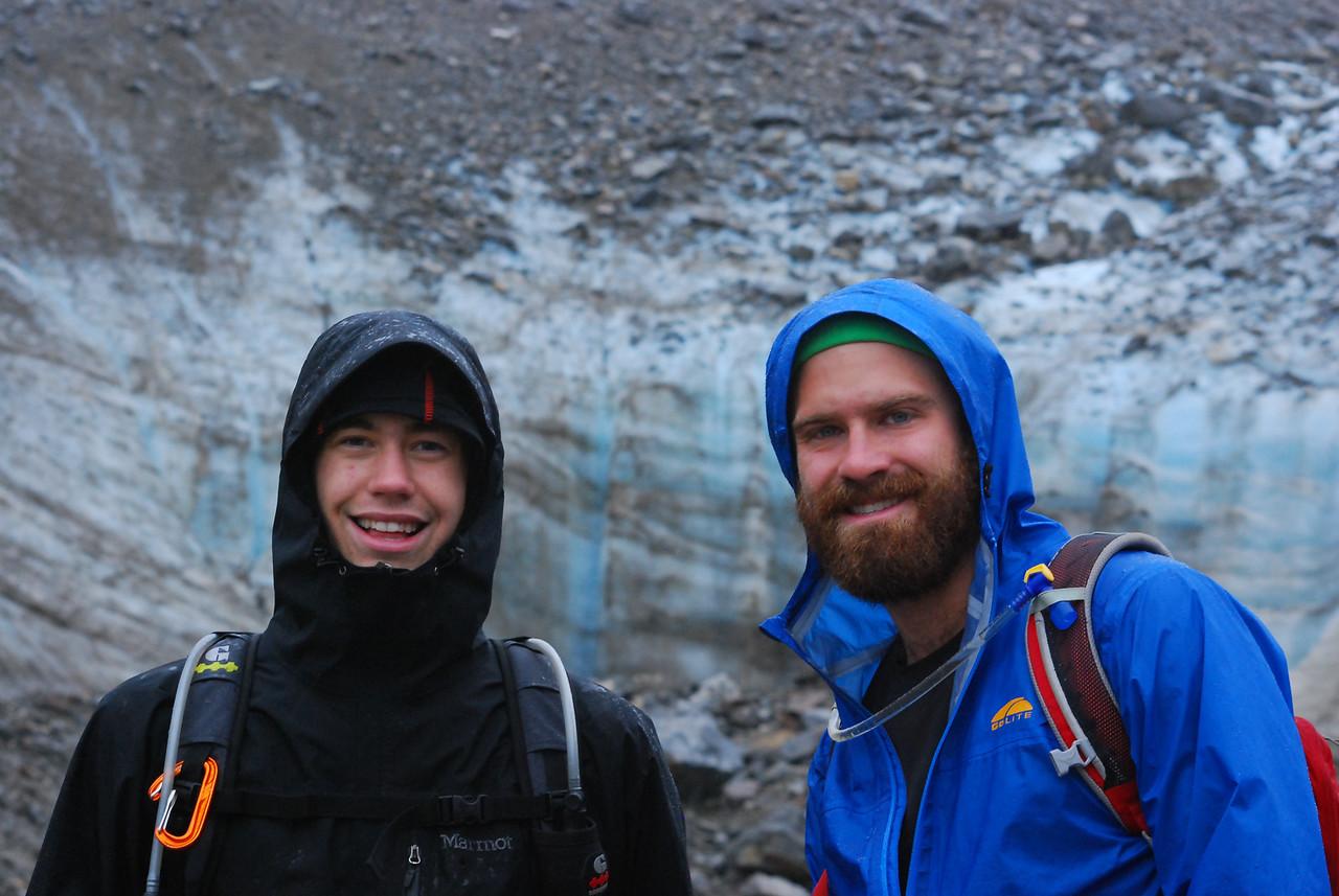 Ryan and Kevin at the base of Laughton Glacier