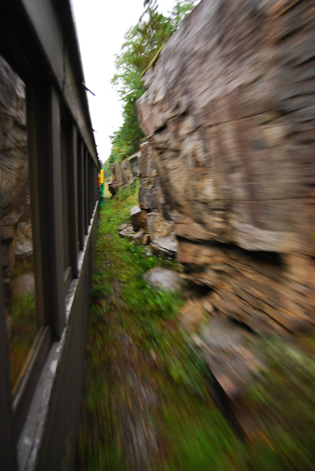 Racing up White Pass on the train