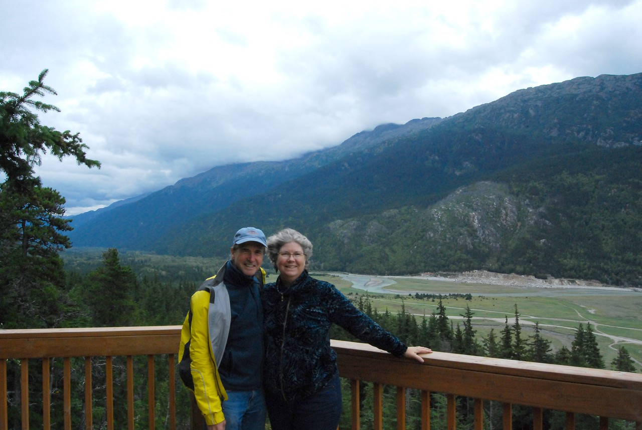 Allison and I at an overlook above the Taiya River Valley - route of the Chilkoot Trail.