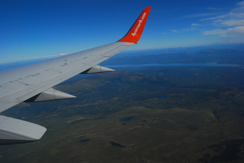 We flew on Air North from Vancouver, BC to Whitehorse in the Yukon. Great company, wonderful service.