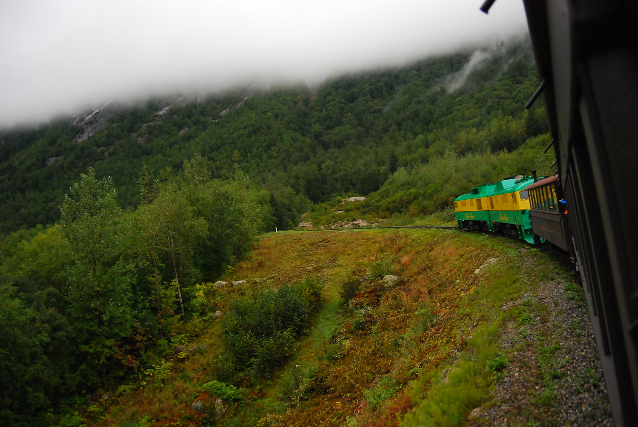 Train on the way up White Pass out of Skagway