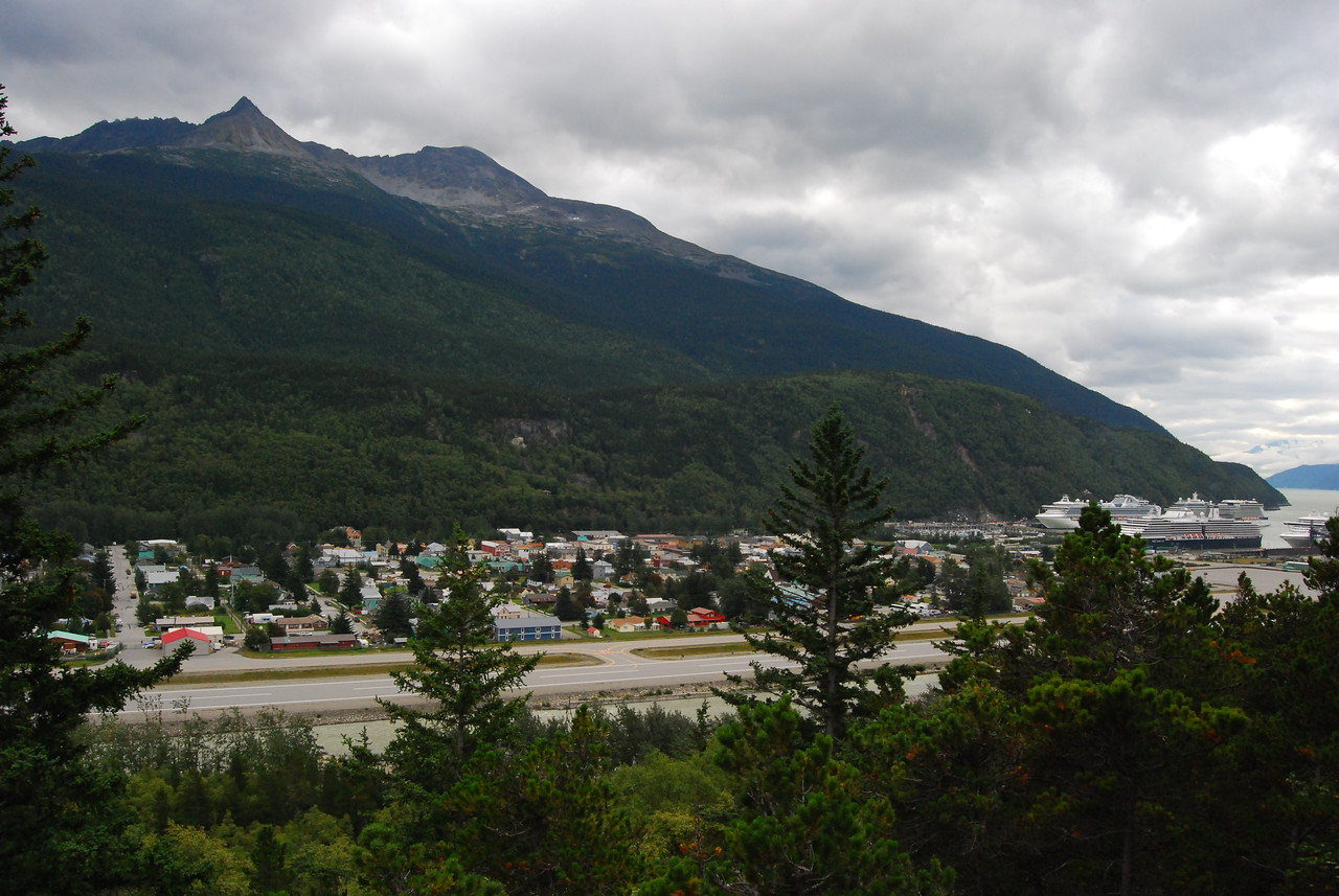 Skagway from an overlook.