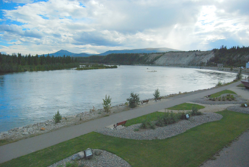 The Yukon River in Whitehorse.
