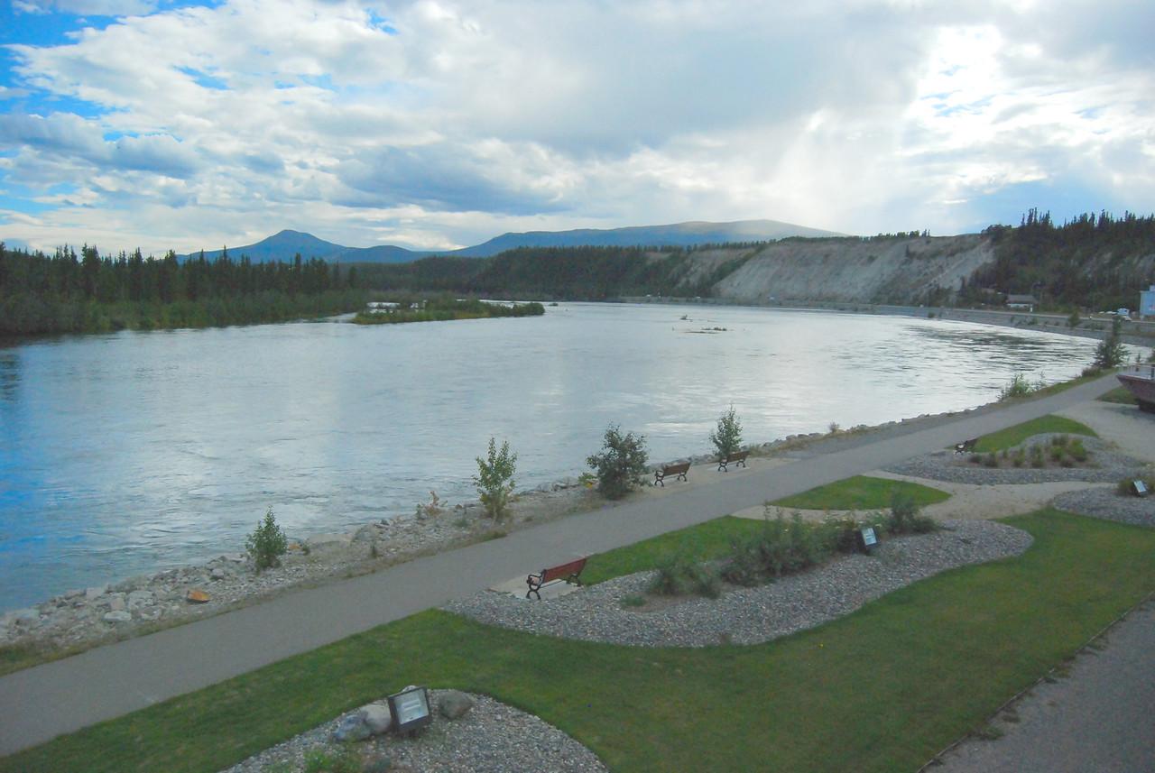 The Yukon River in Whitehorse.