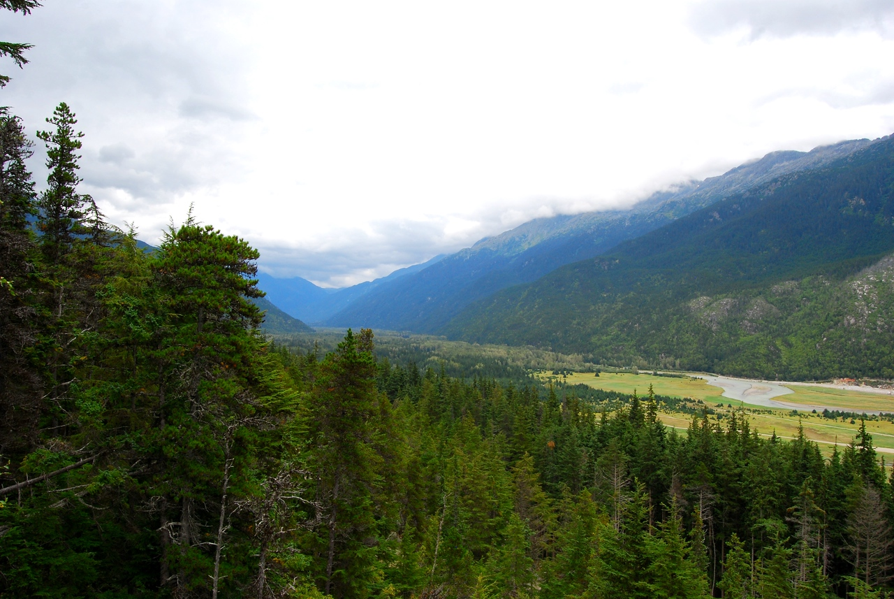Taiya River Valley - route of the Chilkoot Trail.