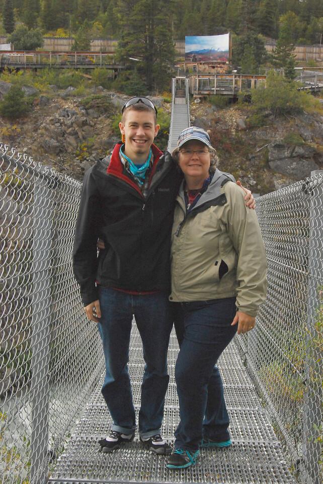 Ryan and Allison on the Yukon Suspension Bridge