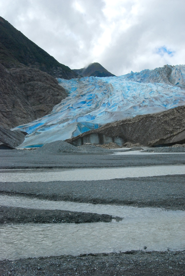 River flowing from the Davidson Glacier.