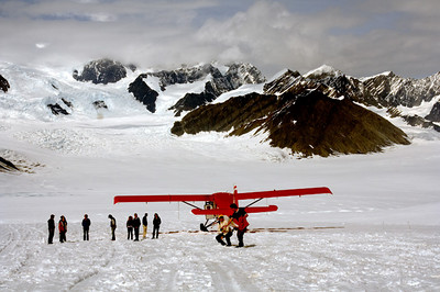 Flight to Ruth Glacier