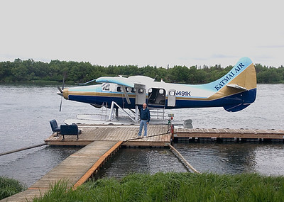 The Katmai Air Sea plane at the jetty