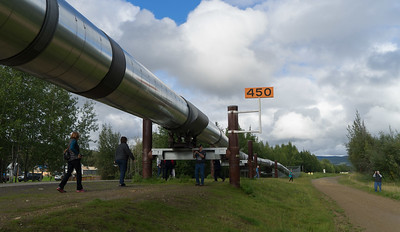 A section of the 800-mile Alaska pipeline