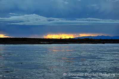 Sunset off of the Talkeetna River just outside of Talkeetna, AK.