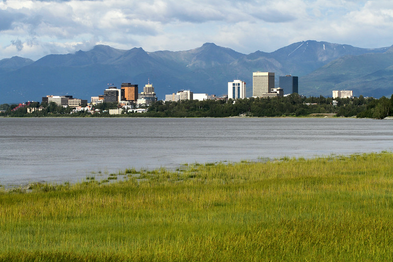 The city of Anchorage, which holds half of the population of the largest US state.