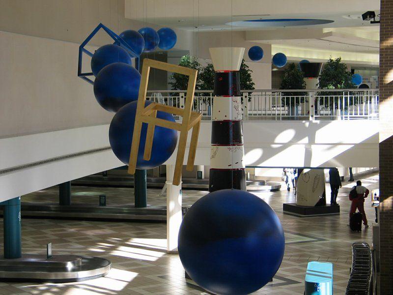 Inside Birmingham airport