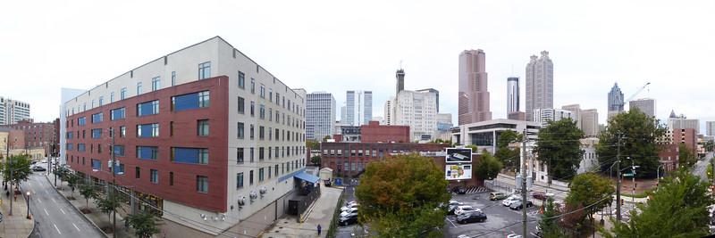 Daytime pano of Atlanta from CityWalk