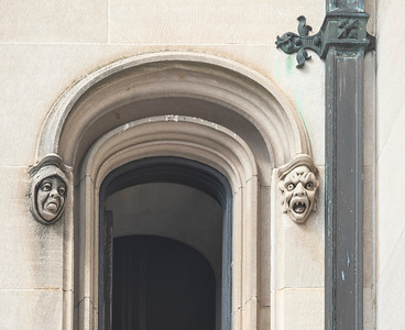 Gargoyles greet visitors