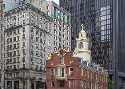 Town Hall....the old and the new Boston