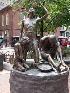 Sculpture commemorating the Irish famine