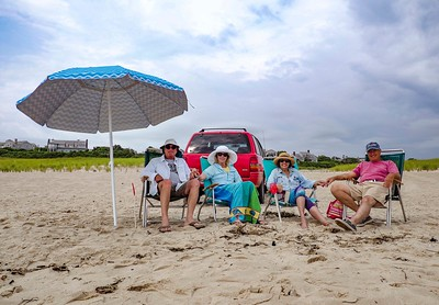 Relaxing on Jeep Beach with the Wallachs