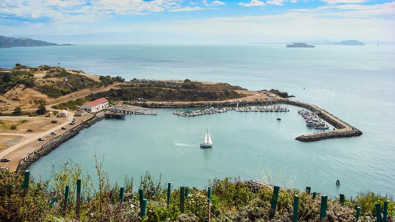 Horseshoe Bay and Alcatraz Island