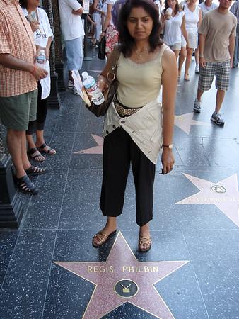 Geeta on the walk of fame.