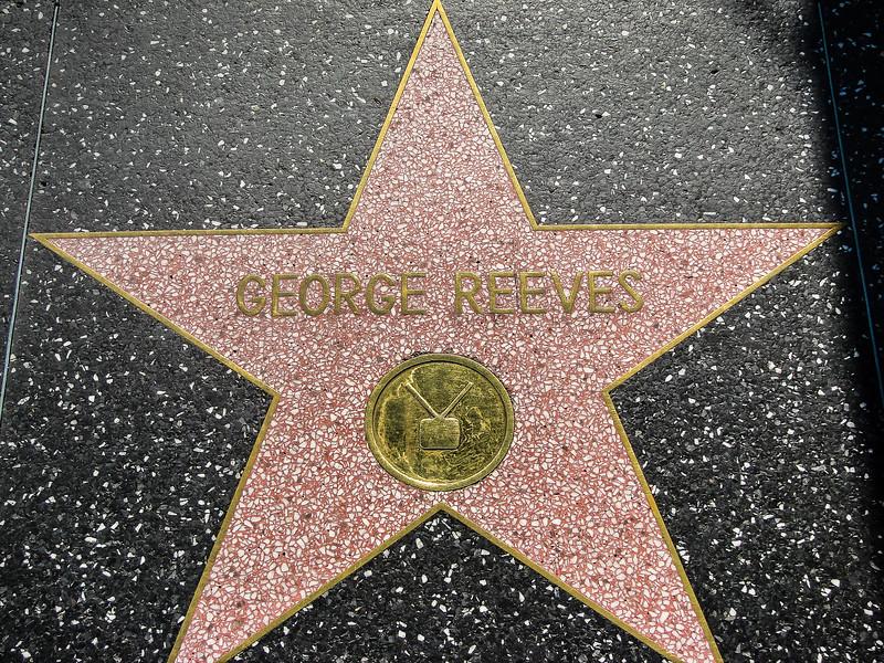 Walk of Fame. Reeves, George TV 6709 Hollywood Blvd.
