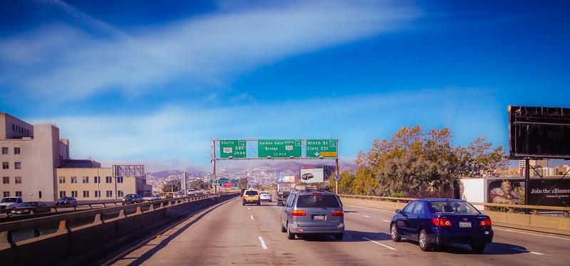 San Francisco Through the Winshield