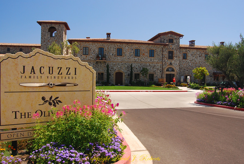 Jacuzzi, Vineyard entrance, Sonoma, California