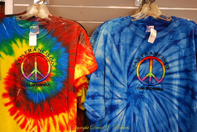 Tie dyed Peace T-Shirts, San Fransisco, California