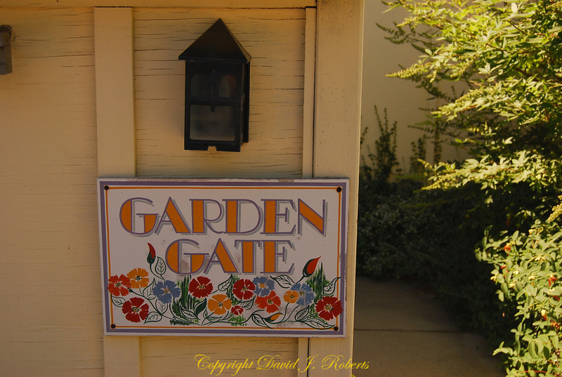 Entrance to Garden Gate cabin, Meadow Creek Ranch, Mariposa, California