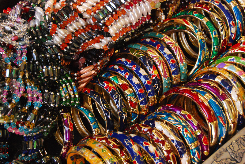 Bracelets in a Chinatown shop, San Fransisco, California
