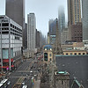 Looking south on Michigan Av, the Magnificent Mile, form Oak Tree Restaurant.