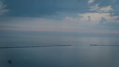 Lake Michigan at dawn