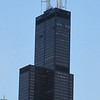Willis Tower Formerly Sears Tower. At least it is not K-Mart Tower. They would have had to put a blue light on top