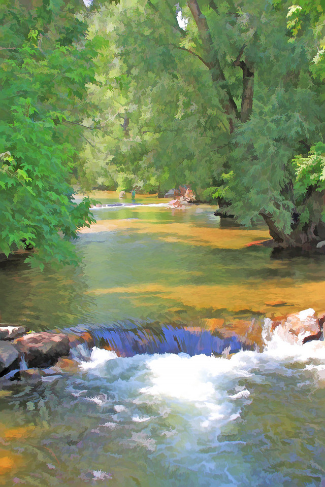 Boulder creek painted