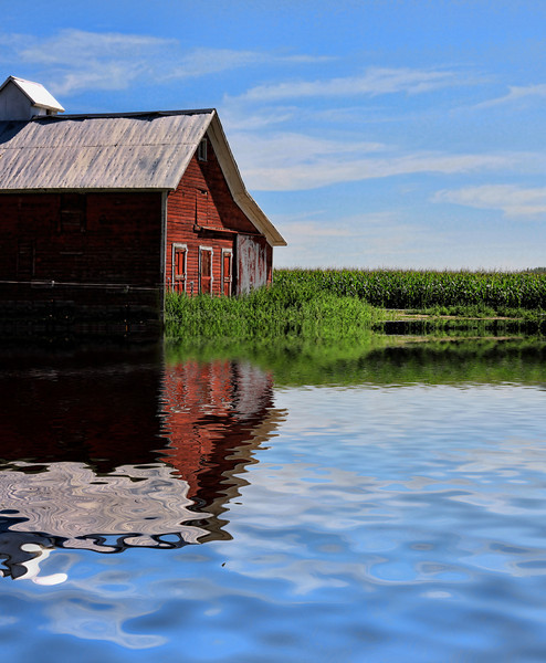 Barn flooded