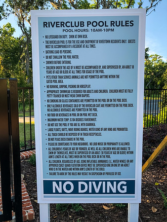 Riverclub Pool Rules