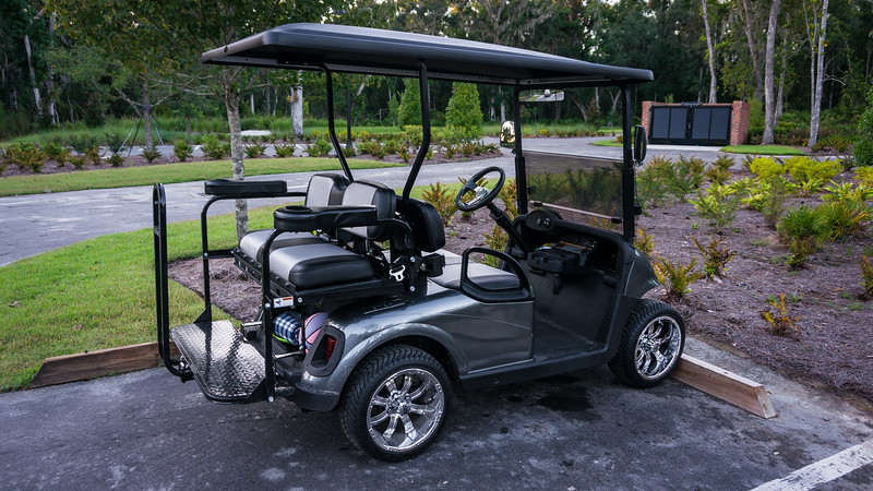 NasCarts Golf Cart at the RiverClub